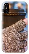 Gloved Hands Holding Coffee Cup IPhone Case