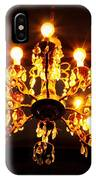 Glowing Chandelier With Border IPhone Case