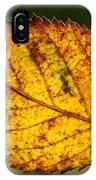 Glowing Fall Leaf IPhone Case