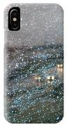 Glowing Raindrops In The City IPhone Case