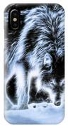 Glowing Wolf In The Gloom IPhone Case