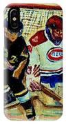 Goalie  And Hockey Art IPhone Case
