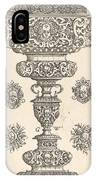 Goblet, Rim Decorated With Masque And Bouquet Of Fruit IPhone Case