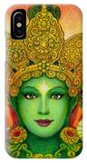 Goddess Green Tara's Face IPhone Case