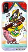 Goddess Saraswati IPhone Case
