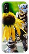 Godzilla With A Yellow Flower IPhone Case