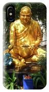 Gold Buddha 4 IPhone Case
