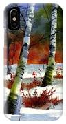 Gold Bushes Watercolor IPhone Case