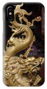 Gold Dragon Statue IPhone Case