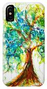 Gold Heart Valentine Tree Watercolor N Ink IPhone Case