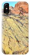 Gold Lava Flow In Valley Of Fire IPhone Case