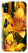 Gold Lilly IPhone Case