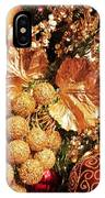 Gold Ornaments Holiday Card IPhone Case