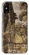Gold Thun Castle IPhone Case