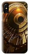 Golden And Brown Spiral Stairs IPhone Case