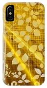 Golden And White Leaves IPhone Case