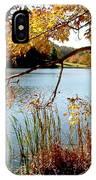 Golden Autumn Lake IPhone Case