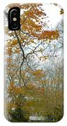 Golden Bus Stop Late Autumn IPhone Case