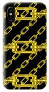 Golden Chains With Black Background Seamless Texture IPhone Case