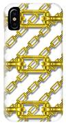 Golden Chains With White Background Seamless Texture IPhone Case