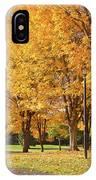 Golden Colors In Autumn Bellavista Park Oregon. IPhone Case