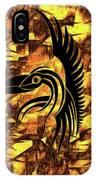 Golden Flight Contemporary Abstract IPhone Case