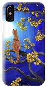 Golden Flowers In Moonlight IPhone Case