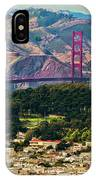 Golden Gate Bridge - Twin Peaks IPhone Case