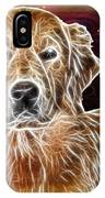 Golden Glowing Retriever IPhone Case