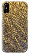 Golden Grains - Hoarfrost On A Solar Panel IPhone Case
