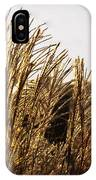 Golden Grass Flowers IPhone Case