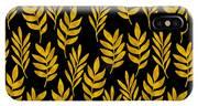 Golden Leaf Pattern IPhone X Case