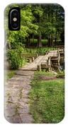 Golden Light On Footbridge Japanese Garden Maymont IPhone Case