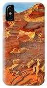 Golden Light On Valley Of Fire Arch IPhone Case