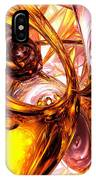Golden Maelstrom Abstract IPhone Case