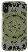 Mandala In Pewter And Gold IPhone Case