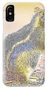 Golden-mantled Ground Squirrel, Digital Art IPhone Case
