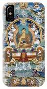 Golden Medicine Buddha Thangka IPhone Case