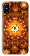 Golden Om Fracdala IPhone Case