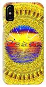 Golden Parrot Mandala IPhone Case
