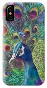 Golden Peacock IPhone Case