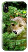 Golden Red Wolf IPhone Case