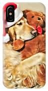 Golden Retriever Dog Christmas Teddy Bear IPhone Case