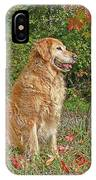 Golden Retriever Dogs In Autumn IPhone Case