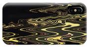 Golden Shimmers On A Dark Sea IPhone Case