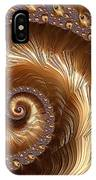 Golden Sparkling Spiral IPhone Case