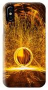Golden Spinning Sphere IPhone Case