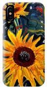 Golden Sunflower Burst IPhone Case