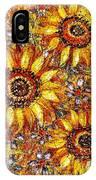 Golden Sunflower IPhone Case