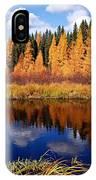 Golden Tamaracks Along The Spruce River IPhone Case